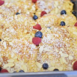 Baked Coconut Almond Brioche French Toast